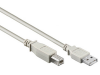 Usb 2.0 a-b cable, a male - b male, grey, 2m