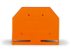 End and intermediate plate; 4 mm thick; orange