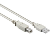 Usb 2.0 a-b cable, a male - b male, grey, 5m