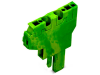 Start module for 2-conductor female connector; 4 mmA²; 1-pole; 4,00 mmA²; green-yellow