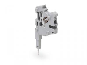 TOPJOBA®S L-type test plug module; modular; for jumper contact slot; 1,00 mmA²; gray