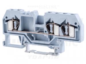 Clema sir industriala de faza,cu arc, pe sina, gri TSKC4/3 800V 32A 0.08-4 mm2 3P