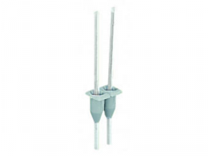 Pin module; 1 x 1 mm; for assembly on all 280 Series front-entry rail-mounted terminal blocks; for Wire-Wrap connection; 2-pole; gray