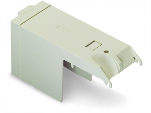 Protective cover; IP20; for high-current terminal blocks with 2 stud bolts M10; light gray