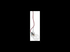 Lustra Radio, 1 bec, dulie E27, D:120mm, H:450/1450mm, Crom