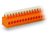 PCB terminal block; push-button; 1.5 mmA²; Pin spacing 3.81 mm; 5-pole; Push-in CAGE CLAMPA®; 1,50 mmA²; orange