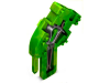 Center module for 1-conductor female connector; angled; 4 mmA²; 1-pole; 4,00 mmA²; green-yellow