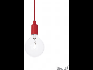 Pendul Edison, 1 bec, dulie E27, D:110mm, H:450/1300mm, Rosu