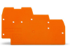 End and intermediate plate; 1 mm thick; for triple-deck terminal
