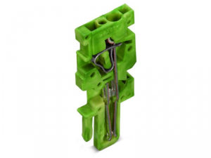 End module for 1-conductor female connector; 4 mmA²; 1-pole; 4,00 mmA²; green-yellow