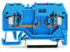 2-conductor carrier terminal block; for DIN-rail 35 x 15 and 35 x 7.5; 4 mmA²; CAGE CLAMPA®; 4,00 mmA²; blue