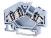 Clema sir industriala de faza,cu arc, pe sina, gri TSKC4/3D 800V 32A 0.08-4 mm2 3P