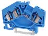Clema sir industriala de nul,cu arc, pe sina, albastru TSKC4/3D-K 800V 32A 0.08-4 mm2 3p