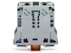 2-conductor through terminal block; 50 mmA²; lateral marker slots; only for DIN 35 x 15 rail; POWER CAGE CLAMP; 50,00 mmA²; gray