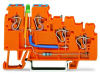 3-conductor sensor supply terminal block; LED (green); 2.5 mmA²; CAGE CLAMPA®; 2,50 mmA²; orange