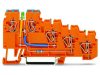 4-conductor sensor supply terminal block; LED (green); 2.5 mmA²; CAGE CLAMPA®; 2,50 mmA²; orange