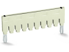 Push-in type jumper bar; insulated; from 1 to 10; Nominal current 18 A; light gray
