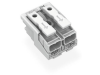 Lighting connector; push-button, external; without ground contact; 2-pole; Lighting side: for solid conductors; Inst. side: for all conductor types; max. 2.5 mmA²; Surrounding air temperature: max 85A°C (T85); 2,50 mmA²; white