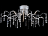 Plafoniera modern spring led 22 w, d.75, cm, h.30 cm,nichel