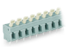 PCB terminal block; push-button; 2.5 mmA²; Pin spacing 7.5/7.62 mm; 10-pole; CAGE CLAMPA®; commoning option; 2,50 mmA²; gray