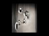Lustra Soft, 6 becuri, dulie G9, D:600mm, H:300/1350mm, Fumuriu