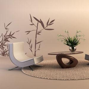 Autocolant (sticker) decorativ bambus 3