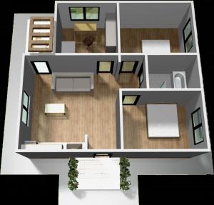 Casa din panouri SIP 90 mp - La Cheie