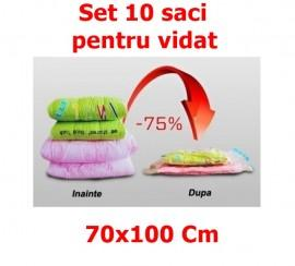 Set 10 Saci pentru Vidat - Vacuum Bags, dimensiune 70x100cm