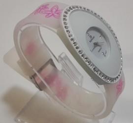 Ceas quartz fashion cu bratara din silicon MODEL 053