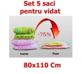 Set 5 Saci pentru Vidat - Vacuum Bags, dimensiune 80x110cm