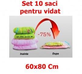 Set 10 Saci pentru Vidat - Vacuum Bags, dimensiune 60x80cm