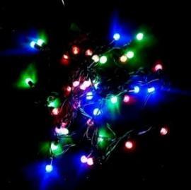 Instalatii Luminoase 40 Globulete Multicolore cu LED si Fir Negru 5m