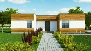 Casa pe structura de lemn EVO 3