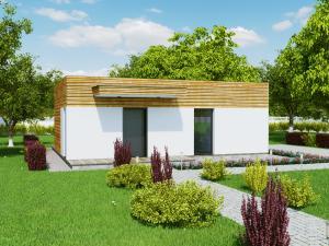 Casa ieftina pe structura de lemn EVO START