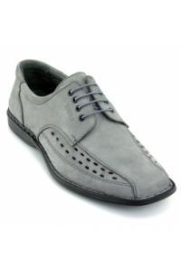 Pantofi de vara Otter gri, din nabuc