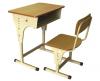 Set mobilier scolar: banca+scaun reglabil, cadru metalic culoare crem
