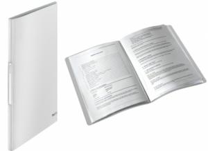 Dosar de prezentare cu 40 de folii, LEITZ Style, plastic PP - alb arctic