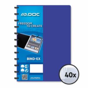 Dosar de prezentare cu 40 folii AURORA Adoc - coperta albastra