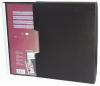 Dosar de prezentare personalizabil, cu 60 folii, A4, coperta rigida, cu caseta, KANGARO - negru