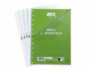 Rezerve folii A4, pentru album de prezentare, 5 buc/set, AURORA Adoc - transparente