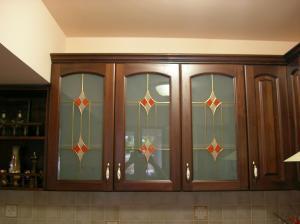 Sticla mobilier cu vitralii