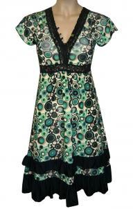 Rochie cu imprimeu verde