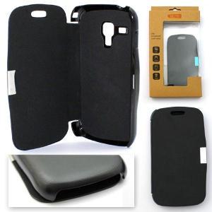 Husa Samsung S7580 Galaxy Trend Plus Carte Inchidere Magnetica neagra