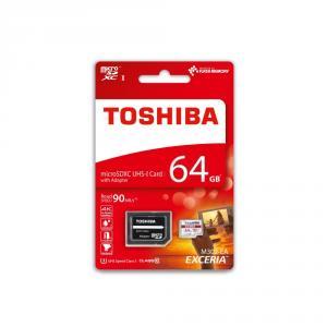 Card memorie Toshiba 64GB microSDHC, class 10, adaptor inclus