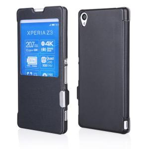 Husa Sony Xperia Z3 Carte View Magnetica neagra