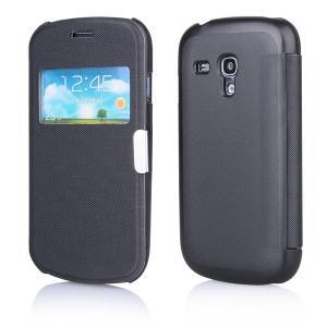 Husa Samsung i8190 Galaxy S3 Mini Carte View Magnetica neagra