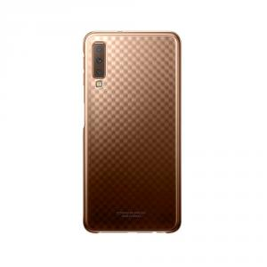 Husa Samsung Galaxy A7 2018, originala, EF-AA750CFEGW, auriu