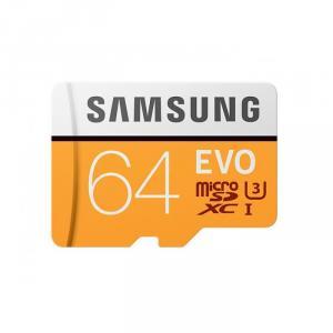 Card memorie Samsung 64GB, microSD EVO, class 10
