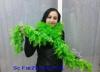 Fular cu pene verde