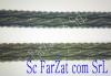 Aplicatie catifea banda cu mici paiete argintii si aurii
